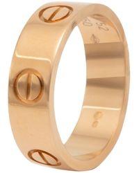 Cartier Love 18k Rose Gold Band Ring Size 52 - Metallic