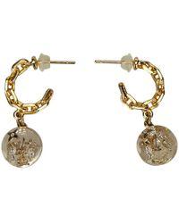 Louis Vuitton - Sweet Monogram Resin -tone Hoop Earrings - Lyst