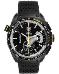 Tag Heuer Black Titanium Grand Carrera Calibre Cav5186 Wristwatch 43 Mm