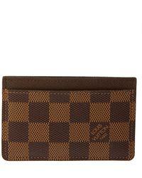 Louis Vuitton Damier Ebene Canvas Card Holder - Brown