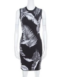 Alexander Wang - T By Black Hawaiian Jacquard Sleeveless Bodycon Dress - Lyst