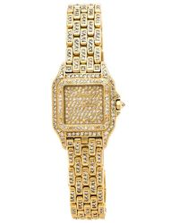 Cartier Tank Francaise 18kt White Gold Diamond Ladies Watch - Metallic