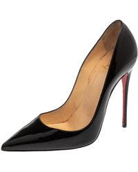 Christian Louboutin Black Patent Leather So Kate Pumps