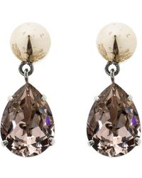 Givenchy - Magnetic Spike Crystal Two Tone Metal Drop Earrings - Lyst