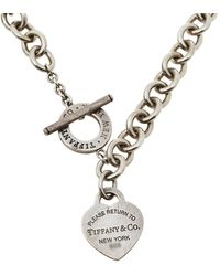 Tiffany & Co. Sterling Silver Return To Tiffany Heart Tag Toggle Necklace - Metallic