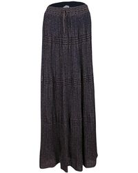 M Missoni - Lurex Perforated Knit Pleated Skirt M - Lyst