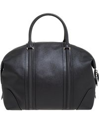 Givenchy Gray Leather Weekender Bag