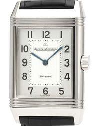 Jaeger-lecoultre Silver Stainless Steel Reverso Quartz 270.8.08 Wristwatch 26 Mm - Metallic