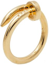 Cartier Juste Un Clou 18k Yellow Gold Ring