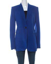JOSEPH Blue Crepe Classic Blazer