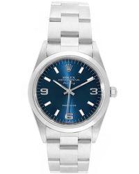 Rolex Blue Stainless Steel Air King 14000 Men's Wristwatch 34mm