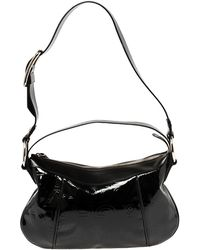 Dolce & Gabbana Black Logo Patent And Leather Hobo