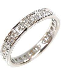 Cartier Ballerine Wedding 18k White Gold Diamond Ring Size 50 - Metallic