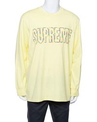 Supreme - Yellow Cotton City Embroidered Long Sleeve T-shirt Xl - Lyst