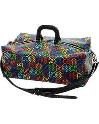 Gucci Canvas Gg Psychedelic Duffel Bags - Multicolour