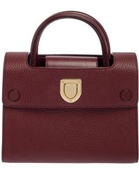 Dior Burgundy Leather Ever Top Handle Bag - Multicolour