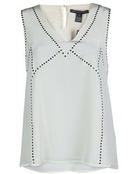 Marc By Marc Jacobs - Silk Studded Sleeveless Top M - Lyst