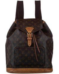 Louis Vuitton Monogram Canvas Montsouris Backpack Bag - Brown