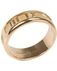 Tiffany & Co. Atlas 18k Yellow Gold Band Ring Size 61 - Metallic