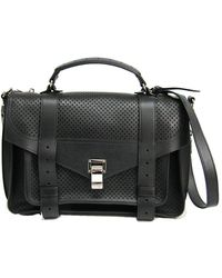 Proenza Schouler Black Leather Briefcase