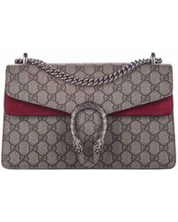 Gucci Brown/red GG Supreme Canvas Dionysus Small Bag - Natural