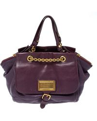Marc By Marc Jacobs Purple Leather Chain Reaction Robyn Crossbody Bag