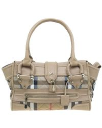 Burberry - Quilted House Check Manor Satchel Bag - Lyst