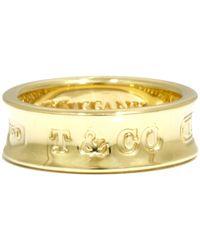Tiffany & Co. 1837 18k Yellow Gold Ring Size 48 - Metallic