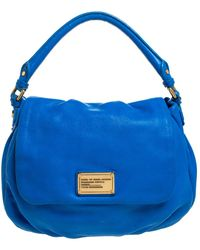 Marc By Marc Jacobs Blue Leather Classic Q Lil Ukita Top Handle Bag