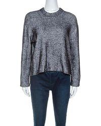 T By Alexander Wang - Monochrome Striped Knit Sweater S - Lyst