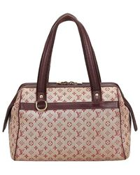 Louis Vuitton Red Monogram Mini Lin Josephine Shoulder Pm Bag