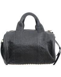 Alexander Wang Black Leather Rocco Hobo Bag