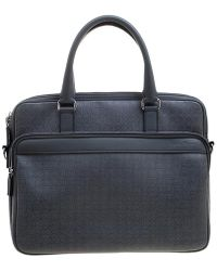 Ferragamo - Embossed Leather Laptop Bag - Lyst