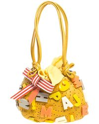 Jamin Puech Yellow Leather Embellished Alphabet Bag