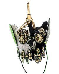 Burberry Mavis The Owl Multicolour Knit Embellished Bag Charm
