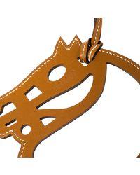Hermès Brown Leather Paddock Cheval Horse Bag Charm