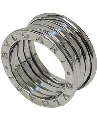 BVLGARI 18k White Gold B.zero1 4 Band Ring