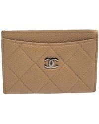 Chanel Jumbo Leather Cc Reversible Pendant Cord Necklace - Gray
