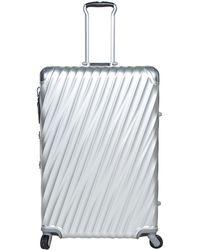 Tumi Metallic Gray 19 Degrees Aluminum Extended Trip Packing Case
