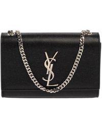 Saint Laurent Saint Laurent Black Grain Leather Small Kate Shoulder Bag