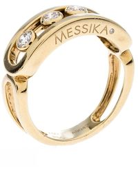Messika Move Diamond 18k Yellow Gold Ring Size 52 - Metallic