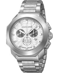 a503461993efb Roberto Cavalli Silver Stainless Steel Rv1g044m0061 Men's Wristwatch 44mm
