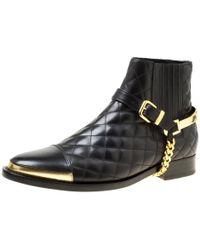 Balmain \n Black Leather Boots