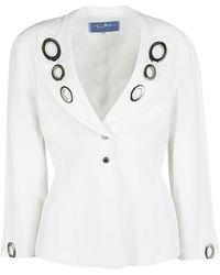 Thierry Mugler Vintage White Embellished Blazer