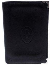 Cartier Black Leather Must De Bifold Wallet