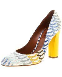 Missoni - Crochet Block Heel Court Shoes - Lyst
