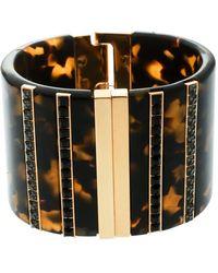Etro - Crystal Resin Gold Tone Wide Cuff Bracelet - Lyst