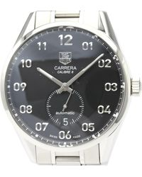 Tag Heuer Black Stainless Steel Carrera Caliber 6 War2110 Automatic Wristwatch 39 Mm