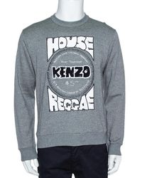 KENZO Gray Melange Knit House Of Reggae Sweatshirt