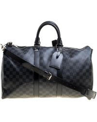Louis Vuitton Damier Graphite Canvas Keepall Bandouliere 45 - Black